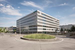 ... das neue Bürogebäude auf dem Campus