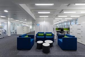 Bürobereich auf dem Siemens-Campus in Zug