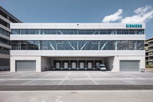 Das neue Produktionsgebäude und ...