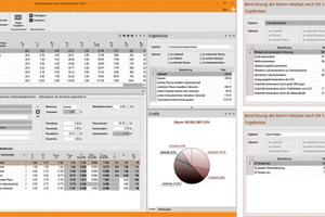 """Bearbeitungs- und Informations-Oberflächen des Programms zur neuen """"Heizlastberechnung nach DIN EN 12831-1"""" mit optionaler Integration in CAD- und BIM-Arbeitsprozesse."""