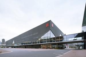 Die neue Messehalle 12 auf dem Messegelände in Frankfurt am Main