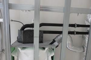 Eines der Umluftkühlgeräte unter der Decke