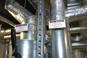 Die Ausführung schließt die detaillierte Beschriftung mit ein, hier für Trinkwasseranschlüsse.