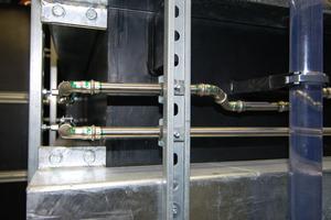 Die Sanha-Systeme ließen sich durch den Werkzeug-Service exakt einbauen. Jede Verbindungsstelle wurde markiert.