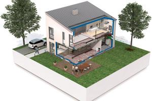 """Das System """"Comfort Air"""" ermöglicht ein zugfreies sowie geräuschloses Heizen, Kühlen und Lüften mit hohen Ansprüchen an Behaglichkeit und Energieeffizienz."""