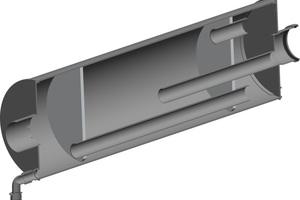 """Reflexionsschalldämpfer """"RXS"""" für tiefe Frequenzen: Durch den identischen Werkstoff Polypropylen und die einheitliche Verbindungstechnik entsteht ein System aus einem Guss.<br />"""