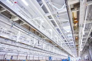 Das neue DB-Werk zählt zu den größten Technikhallen in Europa.
