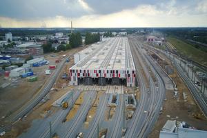 Nach rund 15 Monaten Bauzeit wurde das neue ICE-Werk in Köln-Nippes im Juni 2018 in Betrieb genommen.
