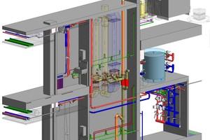 Dreidimensionale Darstellung aus einem BIM-Datenmodell