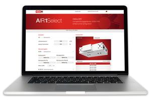 """""""Air1Select"""" ist ein Tool zur Auswahl von RLT-Geräten."""