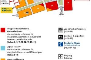 Geländeplan der Hannover Messe 2019