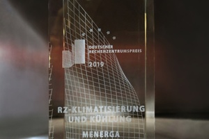 """Menerga hat den deutschen Rechenzentrumspreis 2019 in der  Kategorie """"Rechenzentrumsklimatisierung und -kühlung"""" gewonnen.  Foto: Menerga"""