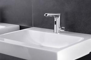 """... wie der """"Xeris E-T"""" mit Thermostat und Verbrühungsschutz, lässt sich die Trinkwassergüte im Gebäude sichern."""