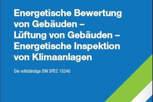 Cover des Sonderdrucks der Norm DIN SPEC 15240