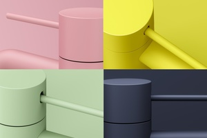 """<irspacing style=""""letter-spacing: -0.005em;"""">Farbvielfalt im Bad: Die neue Oberflächenkollektion """"Fashion"""" umfasst ein Ensemble von vier kuratierten Oberflächen, die sich souverän in zeitgenössischen Interieurs behaupten.</irspacing>"""