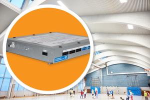 """Der """"Plug &amp; Heat Raumkomfort"""" eignet sich besonders für den Einsatz in  Turn-, Sport- und Industriehallen.<br />"""