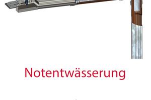 """""""Loro-X Doustream""""-Kaskadenentwässerung Mehrgeschossablauf/Mehrgeschossnotablauf<br />"""