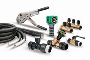 """""""JRG Sanipex MT"""" ist eine formstabile, korrosionsbeständige Systemlösung für Sanitär-, Heizungs- und Druckluftinstallationen.<br />"""