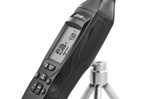 """Das """"EM54""""-Umweltmessgerät eignet sich für die präzise Messung von Luftgeschwindigkeit-, Temperatur- und relativer Luftfeuchtigkeit.<br />"""