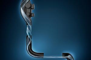 """Drei Formstücke machen aus einem Entwässerungssystem die Lösung """"SuperTube"""" mit optimiertem Strömungsverhalten."""