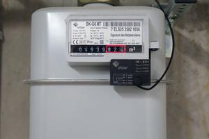 Gaszähler für die Gesamtgasmenge mit Fernüberwachungsausleser