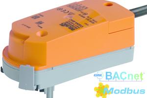 """Der kommunikationsfähige Drehantrieb """"CQ24A-BAC"""" für Zonenventile mit integrierter BACnet MS/TP- und Modbus RTU-Schnittstelle lässt sich über Near Field Communication (NFC) schnell und intuitiv parametrieren.<br />"""