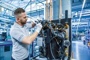 Vaillant Wärmepumpen-Produktion in Remscheid. Wärmepumpen und Effizienztechnologien sorgten 2018 für einen Rekordumsatz.