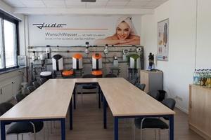 Das neue Büro des Judo-Verkaufsteams Bayern Süd verfügt über einen großen Schulungsraum, der mit moderner Technik ausgestattet ist.