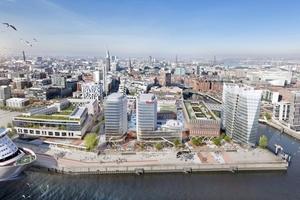 Mindestens 112 Aufzüge und 65 Rolltreppen wird Kone bis 2022 im Westfield Hamburg-Überseequartier der Hamburger HafenCity installieren.