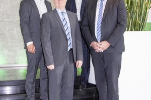 Das Team in der Vertriebsleitung mit Geschäftsführer (v.l.n.r.): Jochen Kitzler, Jürgen Weißenburger, Harald Fischer und Dr. Günter Stoll.