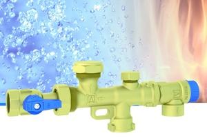 """Die Wassersicherungsgruppe """"WSG 150"""" wurde zur Absicherung von Trinkwarmwasserbereitern gegen einen Überdruck beim Aufheizvorgang entwickelt."""