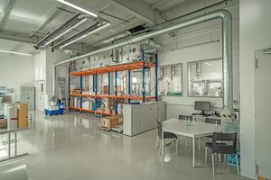 Die zugeführte Frischluft unterstützt die Thermik, die bei der Produktion ...