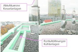 """<div class=""""Bildtitel"""">TGA-Schallquellen </div>unter Realbedingungen auf dem Obermeyer-Gebäude in München <irfontsize style=""""font-size: 4.000000pt;""""> </irfontsize>"""