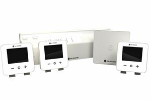 """Das """"Smart Home""""-Regelsystem """"AuraConnect"""" erlaubt die komfortable und energiesparende Steuerung von Heizungsanlagen u.a. per Smartphone."""