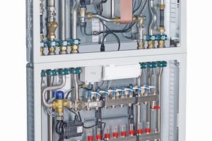 Die Wohnungsübergabestationen von Taconova sind Multitalente. Die modularen all-in-one Stationen erwärmen Trinkwasser im Durchflussprinzip und regeln auf Wunsch gradgenau die Warmwasseraustrittstemperatur.