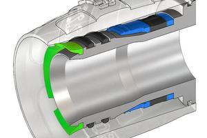 Die Fixierung des Steckfittings erfolgt über den Grabring an der Innenseite des Rohrs. Das Einschieben von nicht kalibrierten oder schräg abgeschnittenen Rohrleitungen wird durch den patentierten Protector Ring verhindert.