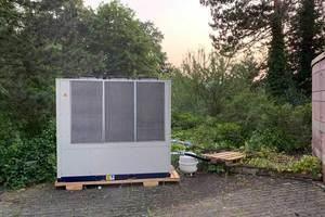 Aufstellung des Kaltwassersatzes im Außenbereich des Tagungshotels
