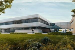 Außenansicht des Global Demo Center von Siemens in Amberg