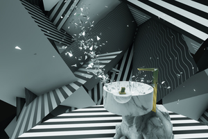 Virtuell konnte mit unerwarteten Darreichungs- und Erscheinungsformen von Wasser experimentiert werden.