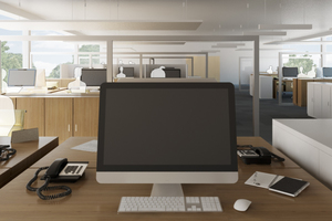 Die Auralisation von Büroräumen ermöglicht Hörvergleiche unterschiedlicher akustischer Szenarien.