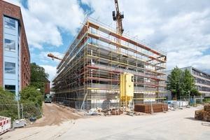 Der Rohbau für das kriminaltechnische Untersuchungsamt in Kiel steht.