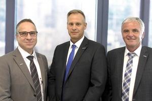 Die drei Geschäftsführer der Systemair GmbH, (v.l.n.r.) Roland Kasper, Stefan Fischer und Kurt Maurer zeigen sich mit dem Verlauf des Geschäftsjahres 2018/2019 zufrieden.