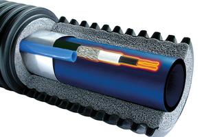 """""""Ecoflex Supra Plus"""" besteht aus einem innenliegenden PE-Mediumrohr, einer umgebenden PEX-Dämmung und dem schützenden Mantelrohr aus hochwertigem PE.<br />"""