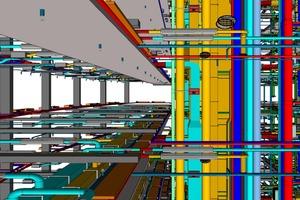 Darstellung einer TGA-Verteilung vom Schacht in die Etagen