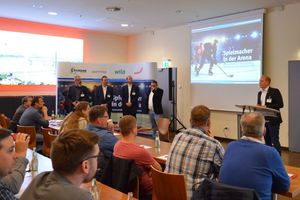 Die Auftaktveranstaltung der Veranstaltungsreihe Expertenseminar 2019 im Düsseldorfer ISS Dome war gut besucht.<br />