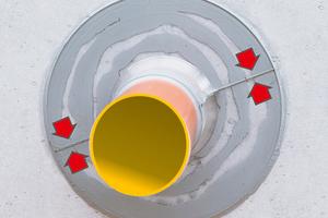 Der Düker-Dichtflansch transparent für Wanddurchführungen<br />