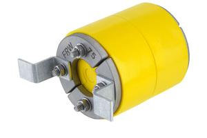 """Die Innendichtung """"Kabu-IN DD"""" dichtet als Teil des Systems zur Hauseinführung Strom- und Kommunikationskabel im Kabelschutzrohr """"Kabuflex R plus Typ 750"""" gas- und druckwasserdicht ab."""