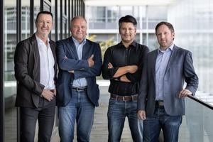 Sie leiten die Geschäfte von Pielok Marquardt – Architecture by Canzler (v.l.n.r.): Hans-Martin Marquardt, Andreas Pielok, Felix Herzog und Andreas Masiorek