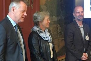 Herr Wenisch, Frau Große und Herr Schreiber (v.l.n.r.) bei der Herbstsitzung des AMEV.