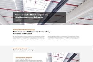 Mit der neuen Homepage geht Schwank mit der Zeit: Klar strukturiert erhalten Planer und Heizungsbauer Informationen für ihre Arbeit.